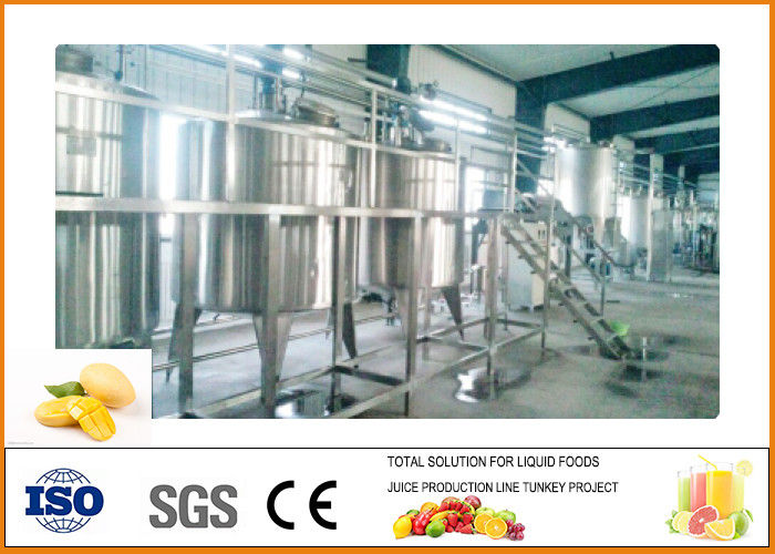 5T/H Mango Juice Processing Plant Automatic  and High Efficiency