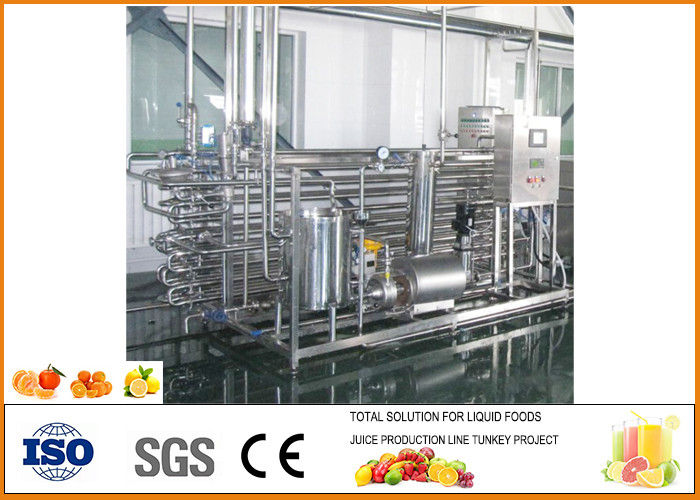 Complete Mini Fresh Orange Juice Production Line 45% Juice Yield Energy Saving